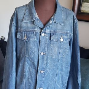 Distressed  Denim Men's Jacket Size L